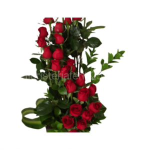 Centro 25 rosas rojas