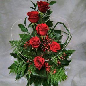 Centro de 6 rosas