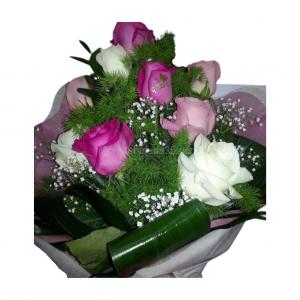 Ramo de 9 rosas tres colores a elegir