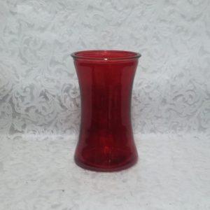 Jarrón de cristal Rojo