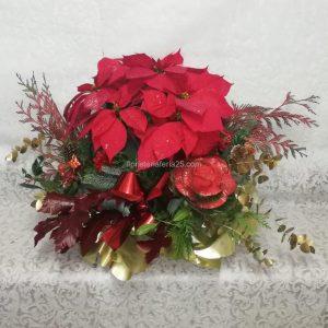 Centro de Poinsettias Rojas