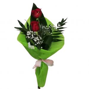 Arreglo de dos rosas colores a elegir