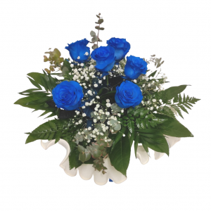 Ramo de 6 rosas azules